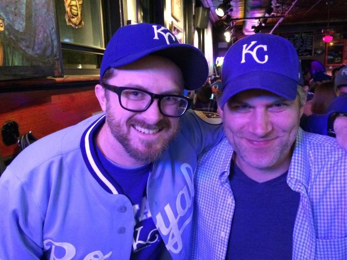 Me and my friend Dan on the night the Royals won it all.